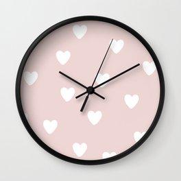 Heart Patter - Baby Pattern Wall Clock