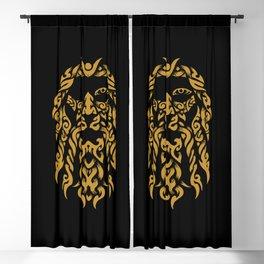 Viking God Odin - Allfather In Asgard - Raven God Blackout Curtain