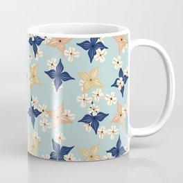Dainty floral pattern on duck egg blue Coffee Mug