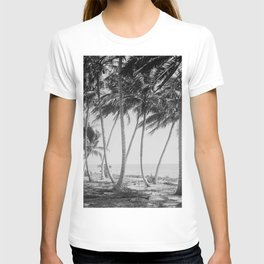Miami Florida Palm Trees Black and White Vintage Photograph, 1915 T-shirt