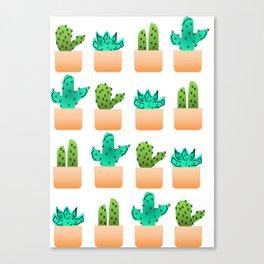 Cacti 4 Squared Canvas Print