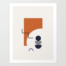Abstract Shapes - Autumn Art Print