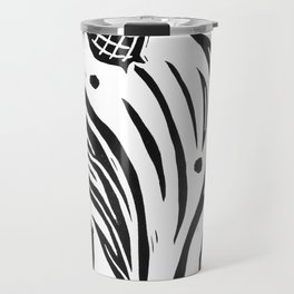 Thistle - Black and White Travel Mug