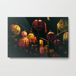 Korean Lanterns Metal Print