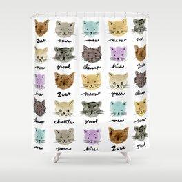Kitty Language Shower Curtain