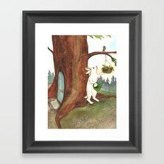 Rabbit at Home Framed Art Print