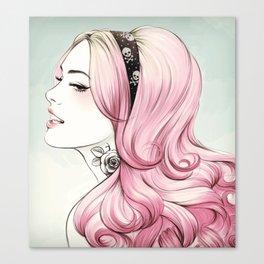 Pink Dye Canvas Print