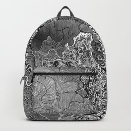 Wild Imagination Illustration (black & white) Backpack
