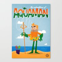 aquaman Canvas Prints featuring Aquaman by Diego Riselli