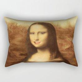Mona Lisa Loves Valentine's Candy Rectangular Pillow