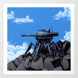 Mountain Sentinel Think Tank Art Print