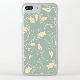 Vintage flower vine pattern Clear iPhone Case