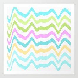 Pastel Waves Art Print