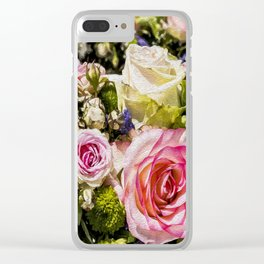 Shabby Roses Clear iPhone Case