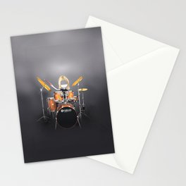 Corky's playing the Drums Stationery Cards