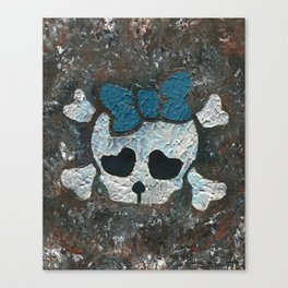Cute Girl Skull Canvas Print
