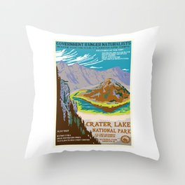 National Parks 2050: Crater Lake Throw Pillow