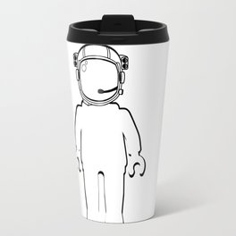 BANKSY STYLE ASTRONAUT MINIFIG by Chillee Wilson Travel Mug