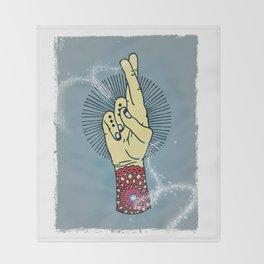 Fingers Crossed 2 Throw Blanket