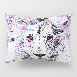 LION PINK and WHITE Pillow Sham