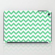 funky chevron mint pattern iPad Case