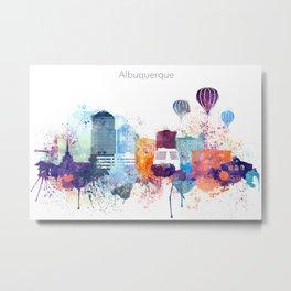 Colorful Albuquerque skyline design Metal Print