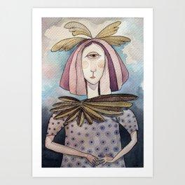chica cíclope Art Print