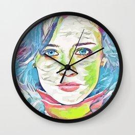 Alexis Bledel (Creative Illustration Art) Wall Clock