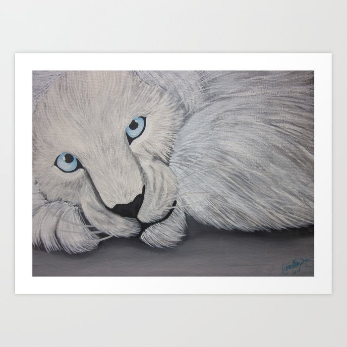 Dare Ya To Pet Me Art Print