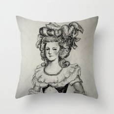 French Sketch II Throw Pillow