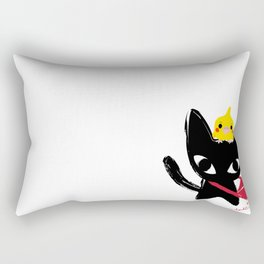 Yeux Du Chat Noir Rectangular Pillow