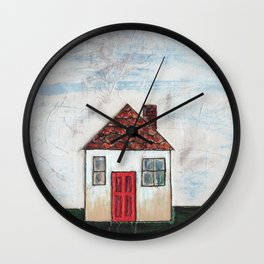 Little white house Wall Clock