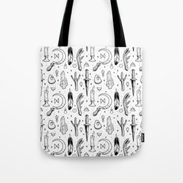 Accoutrements - white Tote Bag