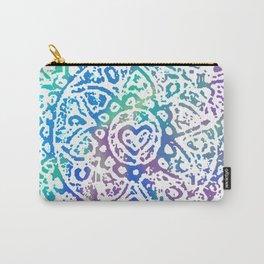 Heart Flower Blue Carry-All Pouch