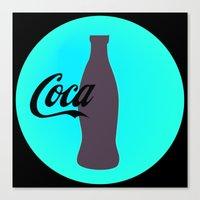 coca cola Canvas Prints featuring Coca cola by Mary Stephenson