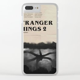 Stranger Thing 2 Vintage Clear iPhone Case