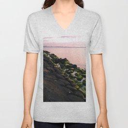 Green Stones and Skyline Unisex V-Neck