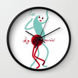 Love, color, music Wall Clock