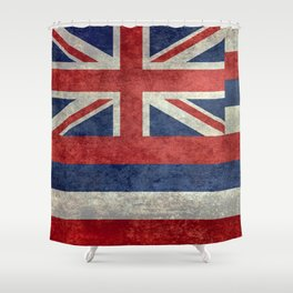The State flag of Hawaii - Vintage version Shower Curtain