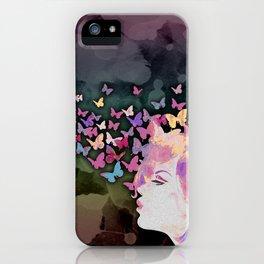 Thinking Butterflies iPhone Case