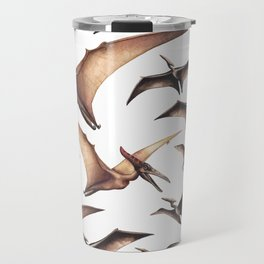 Realistic watercolor dinosaur Travel Mug
