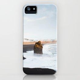 Black Sand Beach, South Iceland iPhone Case