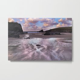 Trevone Bay, Cornwall, England, United Kingdom Metal Print