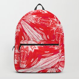 Tropical Red and White Fashion Backpack