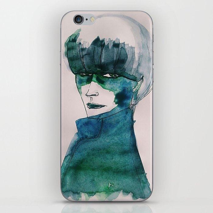 Blue-Green Skin iPhone Skin