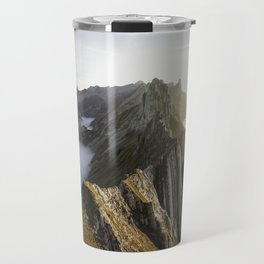 on the edge of the clouds (and cliffs) Travel Mug