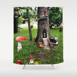 Dwarf Water Paint Shower Curtain