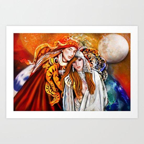 Twin Flame  Art Print