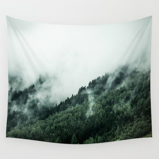 Foggy Woods 1 Wall Tapestry