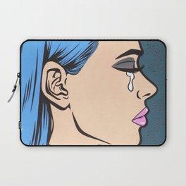 Turtleneck Tears Sad Comic Girl Laptop Sleeve